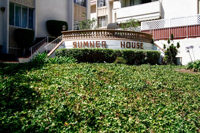 The sign in front of Sumner House in Culver City