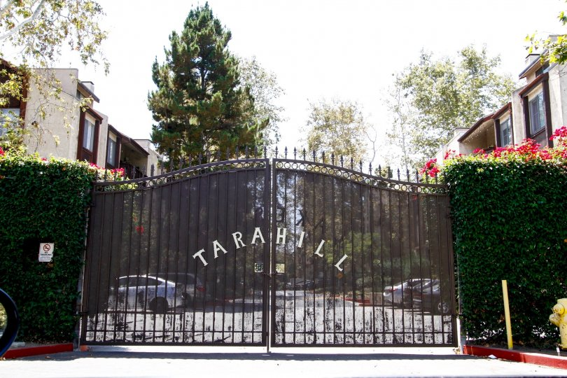 The gate into Tara Hill in Culver City