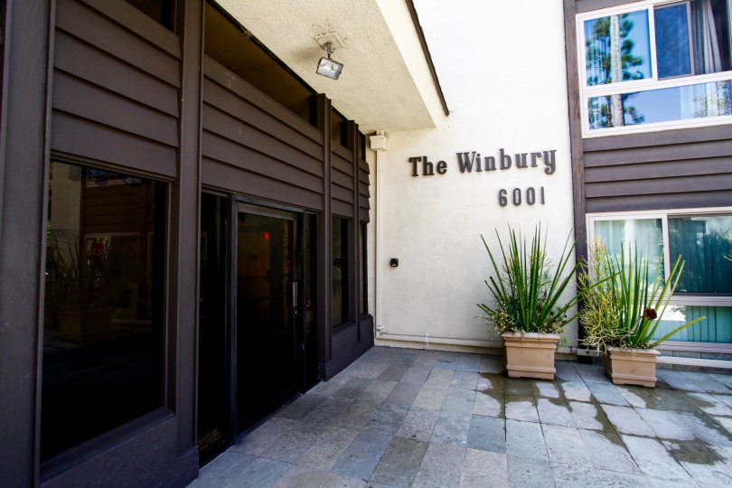 The name of the Winbury on the building