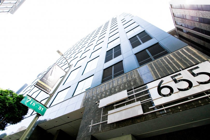 The building at 655 Hope in Downtown LA