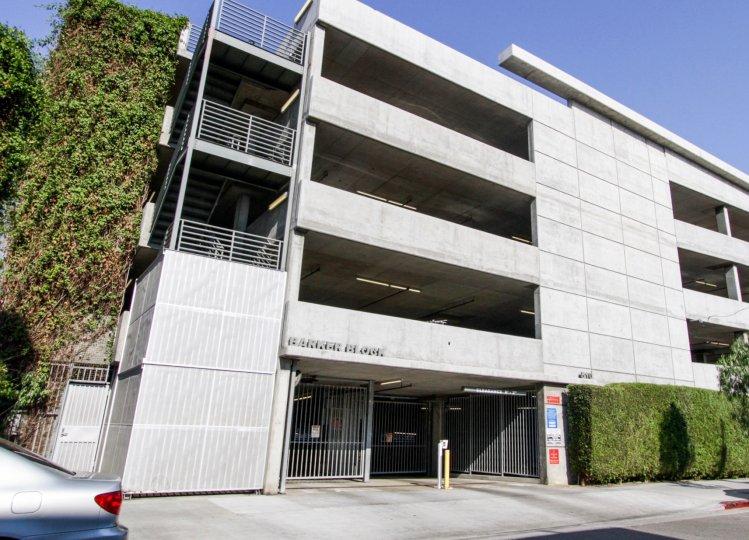 The parking for Barker Block Lofts