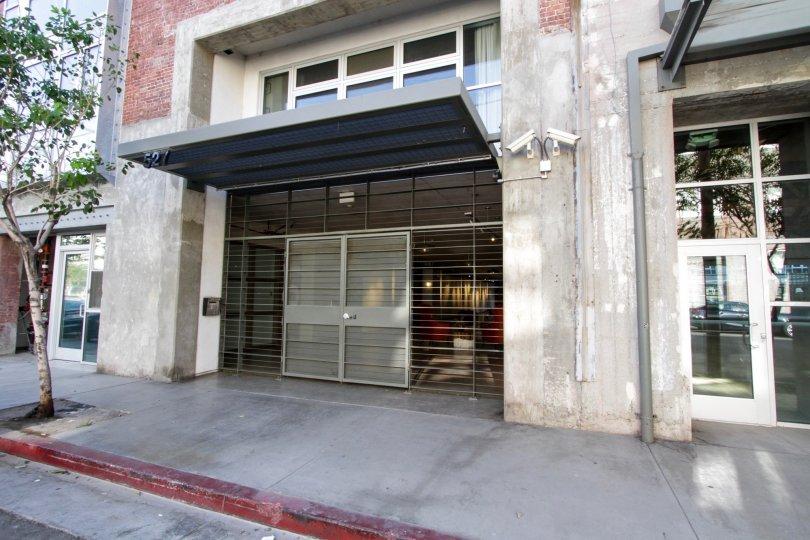 The entrance into Barker Block Warehouse 1