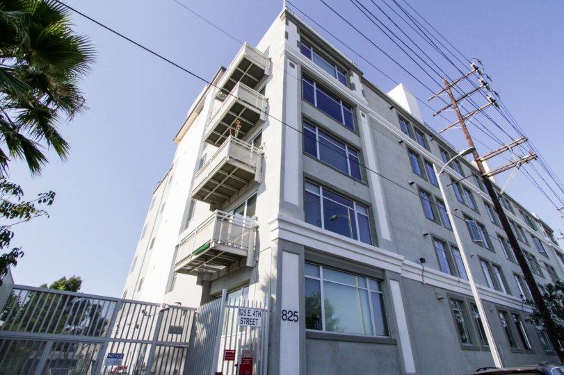 The Beacon Lofts building in Downtown LA