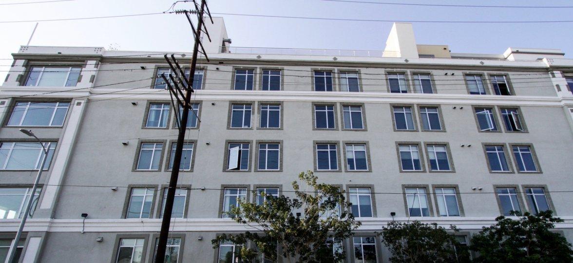 The windows seen at the Beacon Lofts