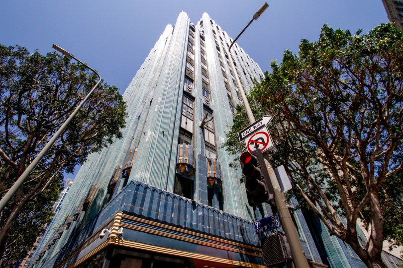 The Eastern Columbia Lofts building in Downtown LA
