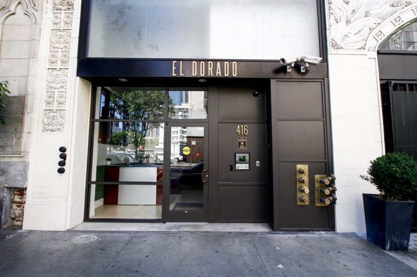 The entrance into El Dorado Lofits in Downtown LA