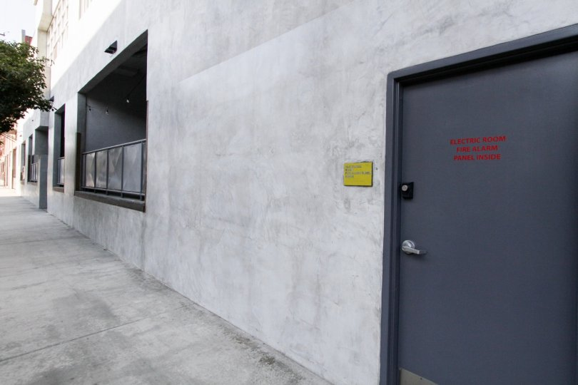 The side entrance into Molino Street Lofts