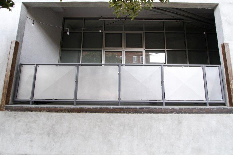 The balcony at Molino Street Lofts