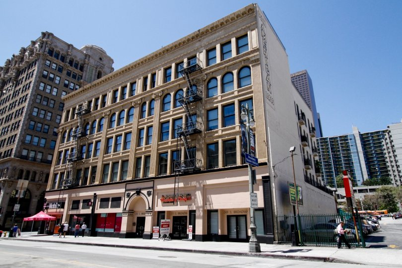 The stunning architecture of Pan American Lofts in Downtown LA