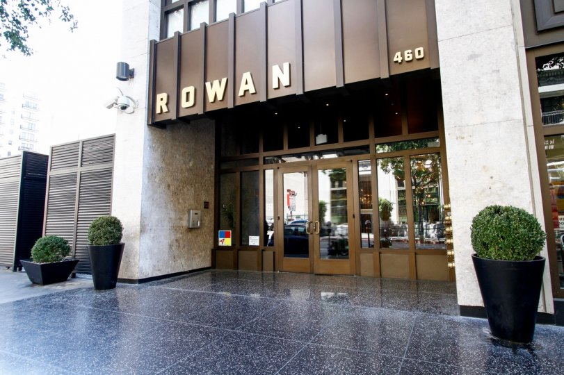 The entrance into Rowan Lofts in Downtown LA