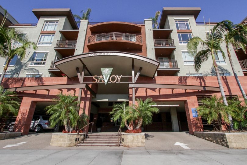 The entrance into Savoy in Downtown LA