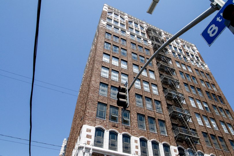 The architecture of the Textile Buildings in Downtown LA