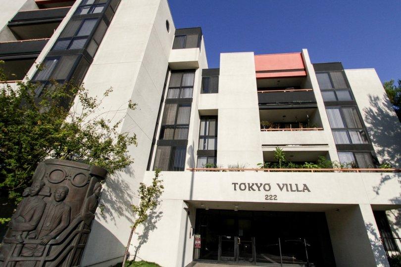 The entrance into Tokyo Villa in Downtown LA