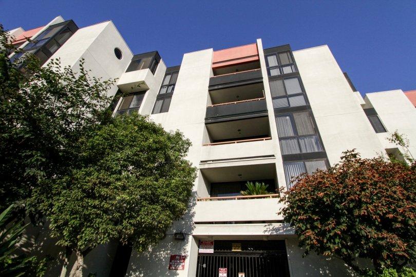 The balconies at Tokyo Villa in Downtown LA