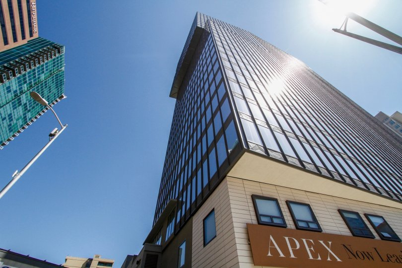 The view of Concerto Apex from the street