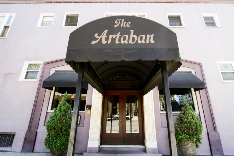 Marquee for Artaban is on the front of the canopy