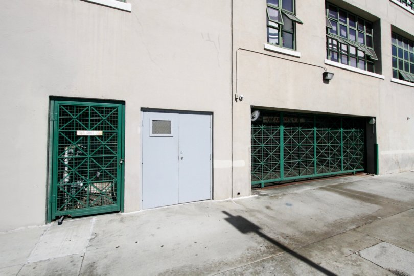 Gated entrance to the parking garage for Kress Lofts