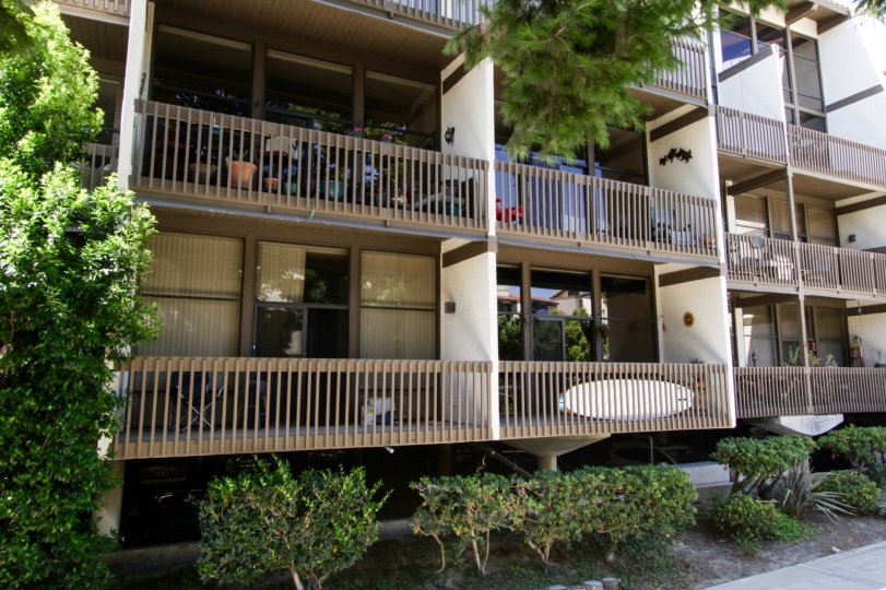 Each condo at Marina Pacifica offers a large balcony