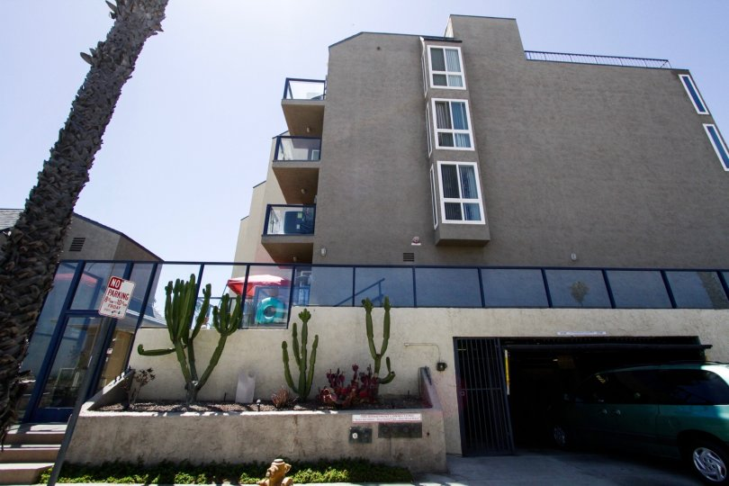 The Ocean Terrace condos have gated parking garages