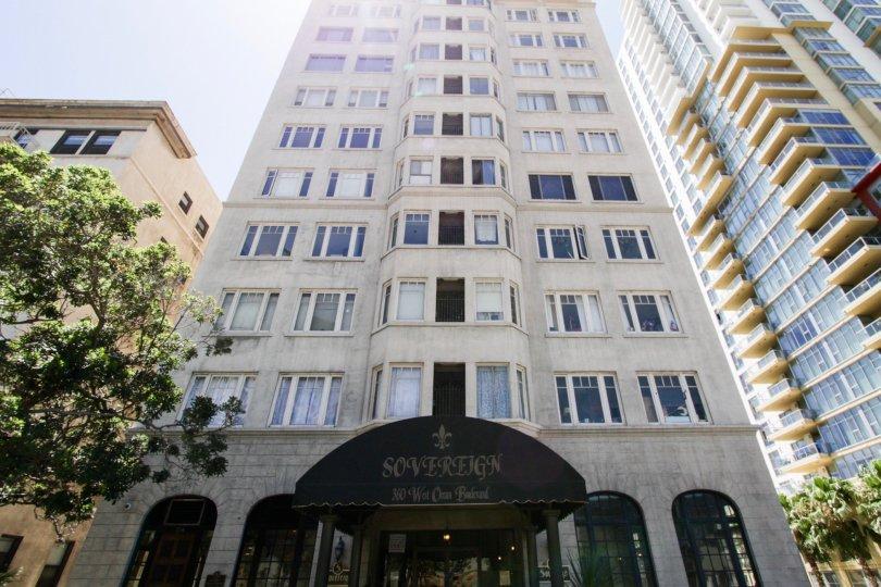 The Sovereign condo tower in Long Beach