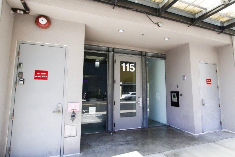 Entry door to Walker Building Lofts