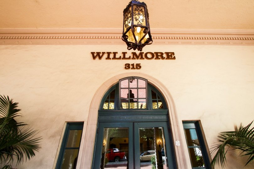 Marquee above the entry doors to The Wilmore