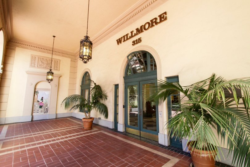 Entry doors to the lobby of The Wilmore