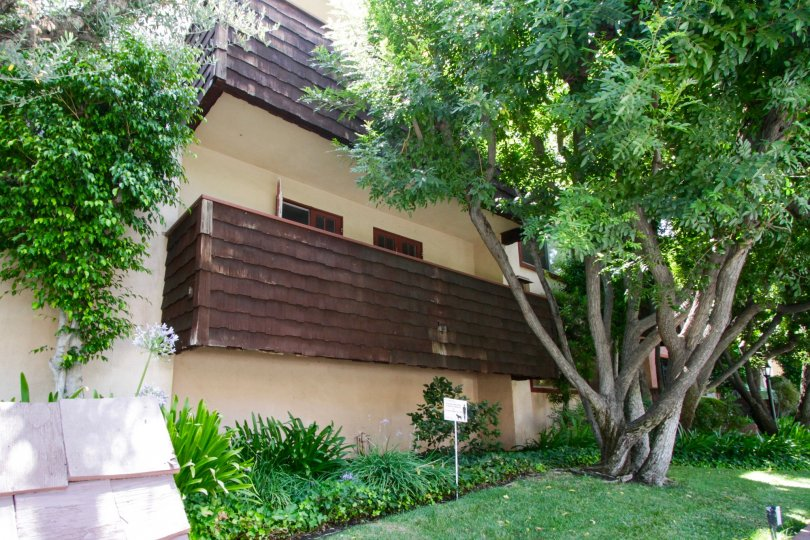 The gorgeous landscaping seen around 5400 Newcastle Ave in Encino
