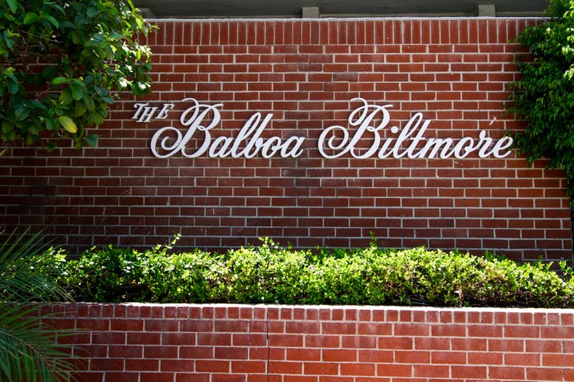 The lettering of the building showcasing Balboa Biltmore in Encino