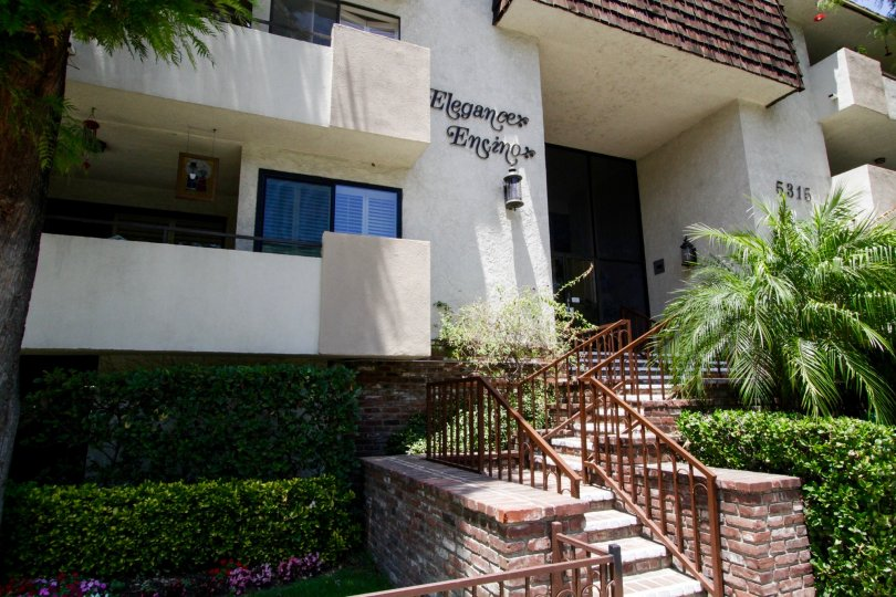 The lettering on the Eleance Encino building in Encino