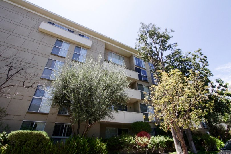 The street view of the Encino Park West building