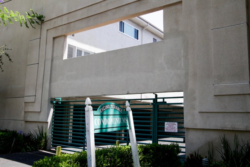 The address sign of Encino Terrace