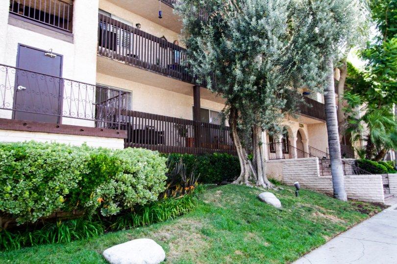 The terrace of Encino Villas in Encino