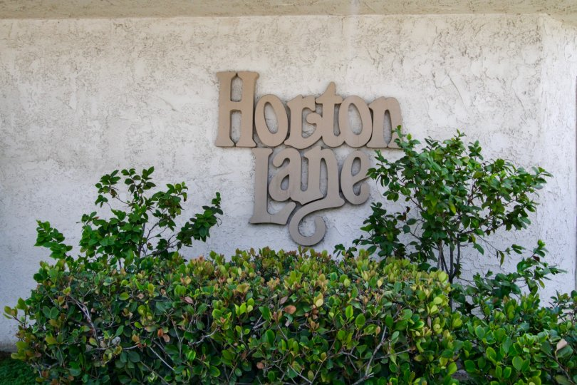 The sign displaying the location for Horton Lane in Encino