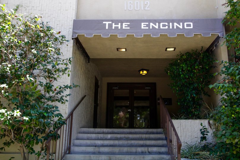 The main entrance into The Encino