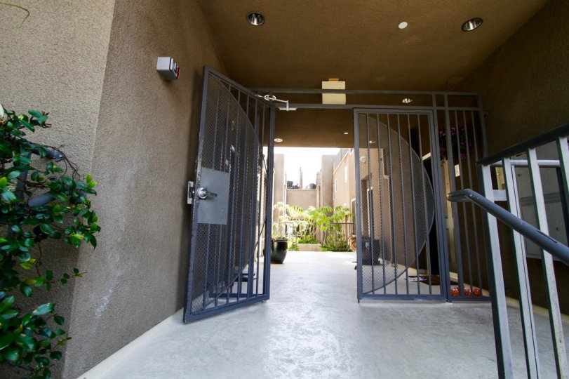 The gated entrance into Argento Townhomes