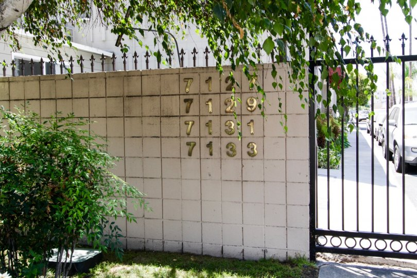 The numbers for building within the Coldwater North Coop in North Hollywood