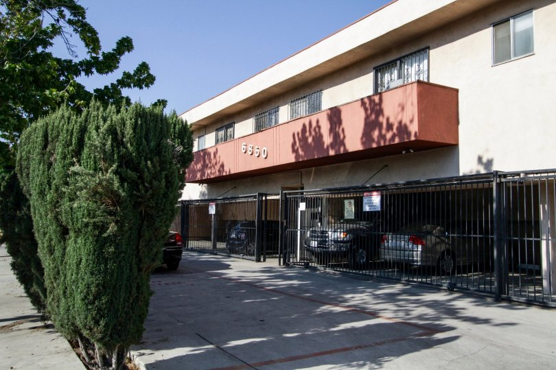 The gated parking for Morella Condominiums