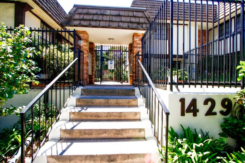 The stairs leading up to 1429 Valley View Rd in Glendale California