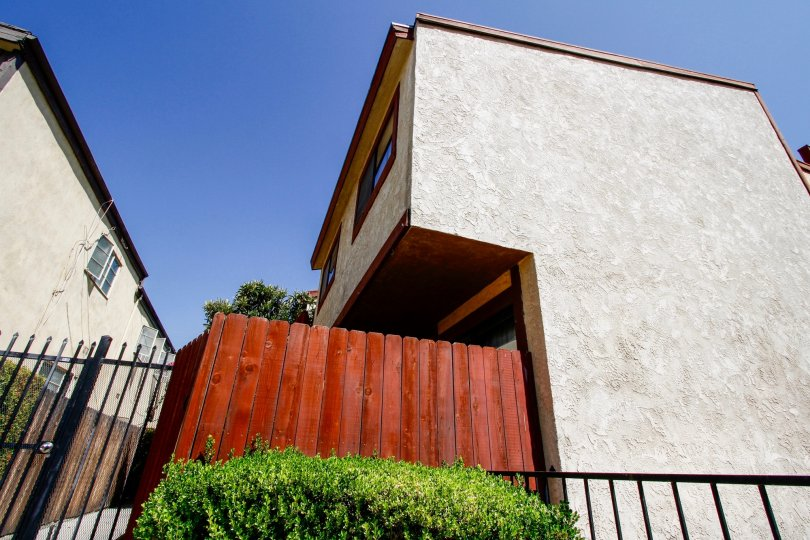The privacy fence around 508 Porter St in Glendale California