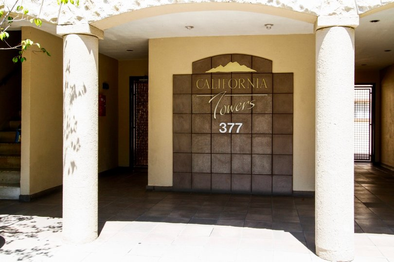 The address of California Towers in Glendale California
