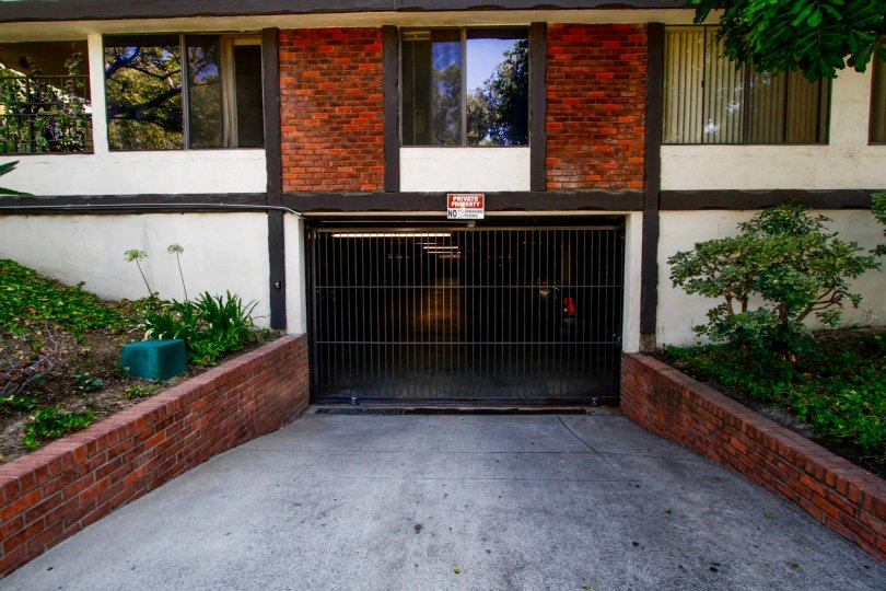 The parking for Chester House in Glendale California