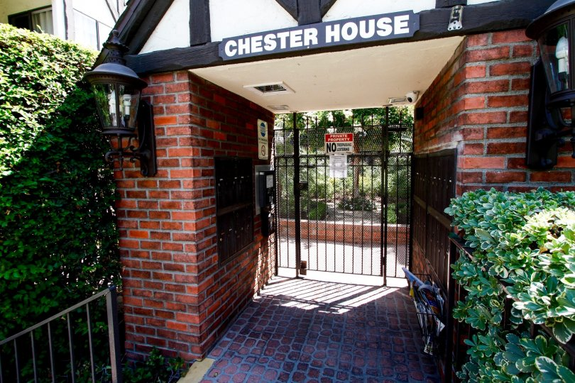 The entrance into the Chester House