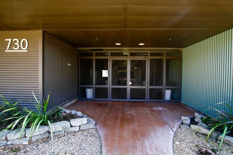 The entrance into Doran Lofts