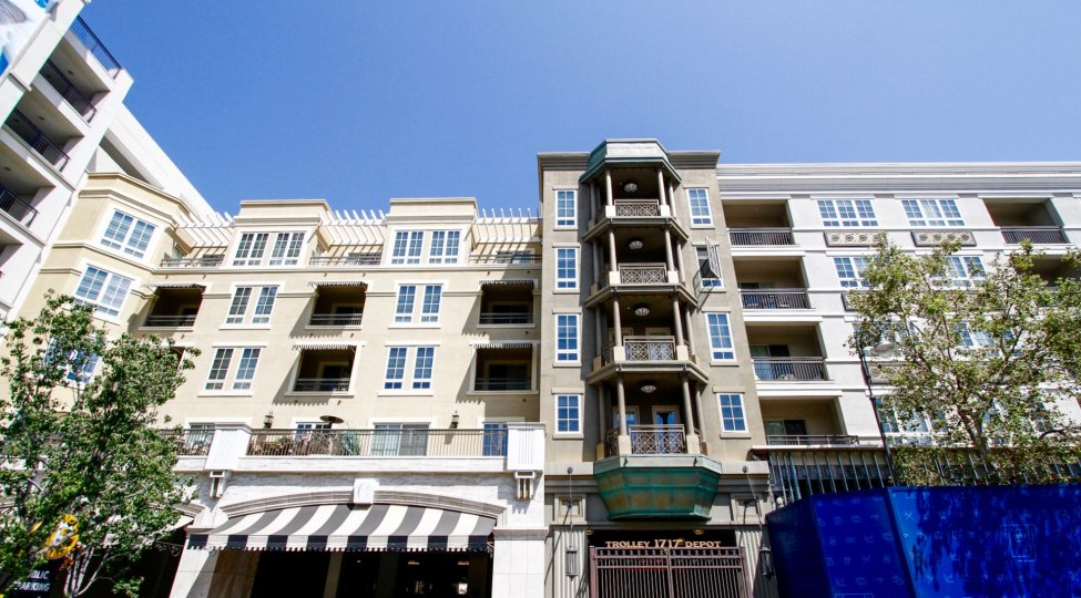 The balconies at Excelsior at Americana