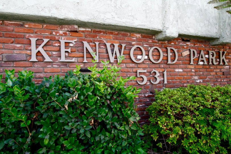 The name of Kenwood Park outside the building in Glendale California