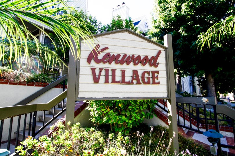 The sign announcing Kenwood Village