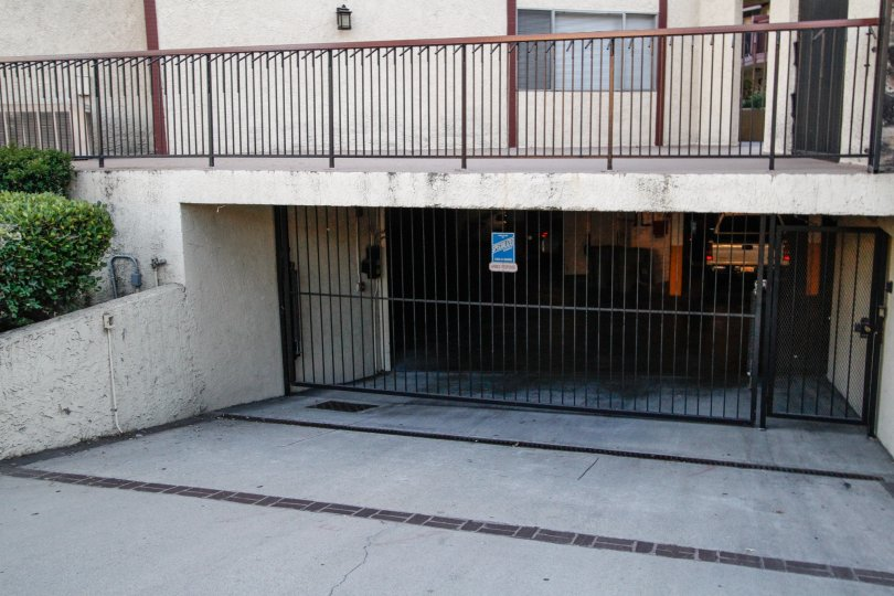 The parking at Montrose Villas