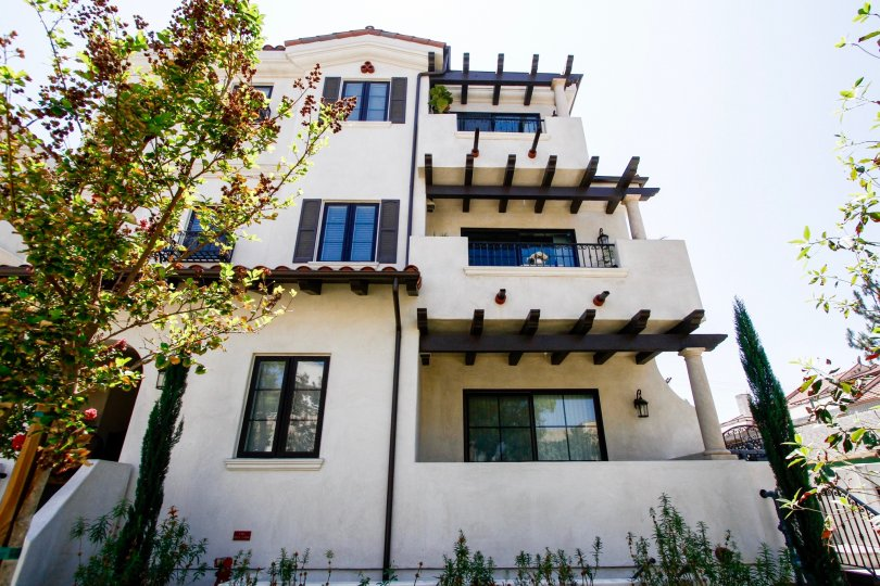 The balconies at  Myrtle Villas
