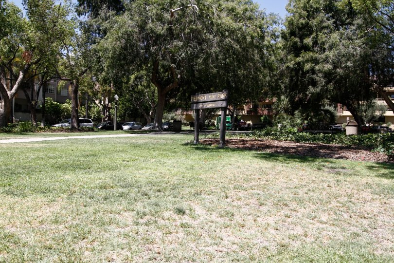 The mini park seen at Piedmont Park in Glendale California